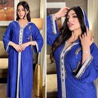 Ethnic Clothing MD 2021 Ramadan Mubarak Abayas For Women Dubai Muslim Hooded Dress Jalabiya Kaftan Moroccan Turkish Evening Gown Islam