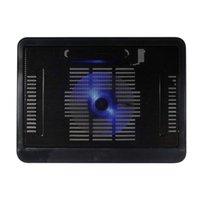 Pads de refroidissement pour ordinateur portable K3NB 12-14 pouces Porte-tampon de refroidisseur ultra-mince portable avec ventilateurs silencieux et accroître réglable à écran LED