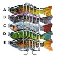 5Pcs Lot Multi-Section Fish Hard Baits & Lures 15 Color Mixed 10Cm 15.5G 6# Hook Fishing Hooks Pesca Fishing Tackle Accessories 1015 Z2