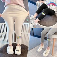 Trousers Girls' Leggings Spring And Autumn Outerwear 2021 Children's Fashionable Pants Baby Net Red Cotton Tight