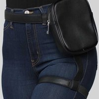BQ Fashion INS Trendy Stylish Women Waist Leg Belt Leather Cool Girl Bag Fanny Pack For Outdoor Hiking Motorcycle 211008