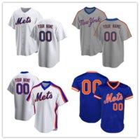 사용자 정의 12 프란시스코 린더 메츠 유니폼 48 Jacob Degrad Baseball 20 Pete Alonso Darryl Strawberry Size S-XXXL-01