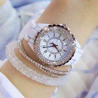 Luxusmänner und Damenuhren Designer Marke Uhren Montres de luxe en cristal gießen femmes, cramique blanche, quarz, la modus,