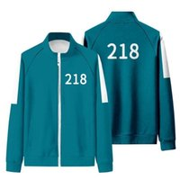 2021 Hot Gym Clothing Squid Game Same Jacket Girl Hoodie 456 067 001 Autumn Casual Polyester Stand-up Collar Sweatshirt Suit Plus Size S-4XL