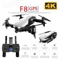 Salmof F8 GPS RC Drone İki Eksenli Anti-Shake ile Kendinden Stabilize Gimbal Çift Kamera Jest Kontrolü 5G WIFI FPV Fırçasız Motor