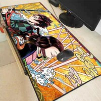 마우스 패드 손목 rects xgz 애니메이션 악마 슬레이어 Kimetsu no Yaiba 대형 게임 닦는 패드 키보드 데스크 매트 노트북 컴퓨터 게이머