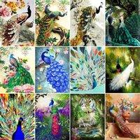 Dipinti Gatyztory 60x75cm Telaio Bird FAI DA TE Painting by Numbers Animali a mano Animali Olio Canvas da colorare Della Parete Della Casa Decorazione