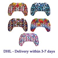 DHL 2021 دفع تململ لعبة فقاعة ألعاب الحسية لعبة تحكم gamepad شكل التوحد الخاصة الاحتياجات الخاصة الإجهاد المخلص السفر ألعاب - عظيم للأطفال البالغين