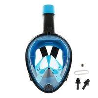 Mascarilla de buceo, espejo de respiración de cara completa adulta, equipo de entrenamiento de pesca pulmonar bajo el agua, especial para nadar # 7451