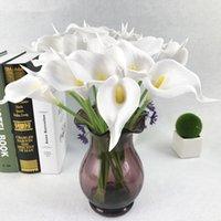 10 pcs 34cm PU Real Touch Artificial Calla Lily Buquê de Flores Buquê de Casa Jardim de Casamento Casamento Festa de Aniversário Decoração Falsa Flores