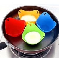 Silicone Egg Tools Poacher Cup Tray Eggs Mold Bowl Rings Cooker Boiler Kitchen Cooking Tool 4 COLORS seaway FWA9085