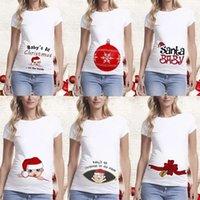 تي شيرتالشرج الشاي الأمومة عيد المرأة تي شيرت لطيف سانتا الطفل طباعة الملابس الحوامل 0203