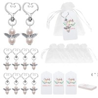 Angel Favor Keychains Thank You Tags Gift Bags Guest Return Favors Baby Shower Bridal Shower Wedding Gifts OWD6421
