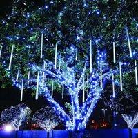 Dizeleri Düşük Gerilim 24 V 30 CM 50 8 Tüp Su Geçirmez Meteor Duş LED Dize Işıkları Açık Noel Dekorasyon Aile Ağacı AB / ABD