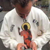 Иисус Кайн Запад - король толстовка бренда мужская дизайнер капюшона мода повседневная Crewneck Pullover для мужчин женщин пара хип-хоп уличные наряды