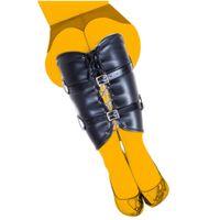 Юбка нога плотно привязка сексуальная одежда кожаная удерживание для взрослых настроение sm мужское и женское ведомое белье регулировка нижнего белья оборудование