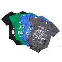 Baby infant boy vestiti pagliaccetto ragazza stampa stampa stampa manica corta pagliaccetto babys rampicante 100% cotone estate panno estivo OWC7373