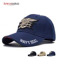 Chapeau de baseball chapeau chapeau de camionneur bleu marine Aiwohaige tactique tactique mens US Navy Satells Cap Army Cap Gorras pour adulte