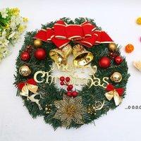 Schöne 30cm / 12 Zoll künstliche Weihnachtskranz Fronttür Ornament Wandgirlande Hängende Rattan Ornamente Bogenglocke Party Show FWF10947