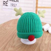 2021 Autumn and winter acrylic Cartoon deer Thicken knitted hat warm hat Skullies cap beanie hat for Children boy and girl 82