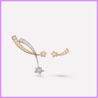 Meteor Cross Earrings Street Fashion Women Asymmetry Earring Designer Jewelry Luxury Designers Ear Studs Mens Sterling Silver D219236F