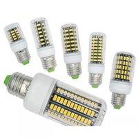 100x E27 E26 E14 GU10 G9 B22 LED LIGHTA Office 옥수수 전구 슈퍼 밝은 5733 SMD 7W / 12W / 18W / 22W / 25W / 35W 136 LED 따뜻한 / 멋진 흰색