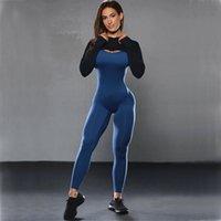 Backless Set Bodysuit Vücut Eğitimi Spor Bale Tek Parça Dans Uzun Kollu Mahsul Kadın Yoga Takım Elbise Tops