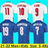 2022 KANE soccer jerseys 2021 RASHFORD HENDERSON PHILLIPS GREALISH STERLING SANCHO MOUNT SAKA jersey football shirt Kids kit women + Men
