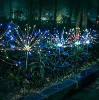 Christmas Solar lawn firework light dandelion string lights outdoor waterproof christma decoration lamp CCD8302