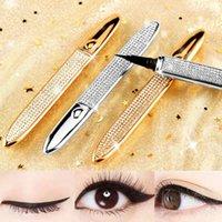 Éye d'oeil adhésif adhésif de mode à la mode Eyeliners liquides durables solides auto-adhésifs de cils étanches à oiseau étanche pour cils