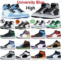 Universidad Azul Zapatillas de baloncesto Mens Sneakers Twist Obsidian UND Silver Toe Dark Mocha Luz Smoke Grey Lucky Green Shadow Hombres Mujeres Deportes Entrenadores deportivos