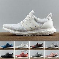 Ultra Boost 3.0 4.0 يعزز أحذية رجالي الاحذية Ultraboost 20 الثلاثي أسود أبيض المرأة أحذية رياضية حافي القدمين المدربين 3.0 المشي