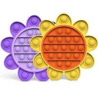 Sonnenblumenparty Gunst Fluoreszenz Pop Bubble Sensorie Zappeln Spielzeug Unter US-Autismus Sonderanforderungen Stress Reliever Es senfe Sensorys für Kinderfamilie