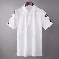 2021 T-shirt camisa de design de marca de polos masculina desgaste de rua Europa moda homens de alta qualidade algodão tshirt casual manga curta # 663