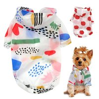 Dog Apparel Raincoat Sun-proof Clothing Summer Sun Protection Hoodie Small Clothes Print Poncho For Medium Pets Puppy Cat