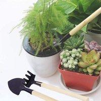 Spade Shovel Bonsai Alambres anodizado Alambre de entrenamiento de aluminio con 3 piezas Mini Harrow Herramienta de jardinería
