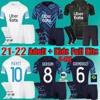 Männer Kids Kit 21 22 Marseille Fussball Jersey Olympique de 20-21 Om MAILLT FUCE THAUVIN Benedetto Kamara Payet Gerson Guendouzi Football Shirts Fans Spieler S-4XL