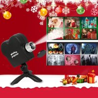 Window Projector Wonderland Lamp For Halloween & Christmas 12 Movie System Display Laser DJ Stage Light Indoor Outdoor Xmas Spotlights Party Favor