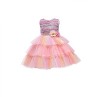 Girls Dresses Kids Clothes Children Clothing Cake Skirt Flower Princess Tiered Skirts Birthday Party Sequin Dress Ball Gown B8224