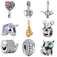 2021 Charms Animal Unicorn Mouse Bead Fit Pandora Diy Hanger Bracelet Jewelry for Women Poison