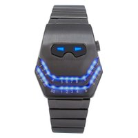 Wristwatches 2021 Fashion Creative Snake Head Watch Men LED Digital Watches Black Stainless Steel Electronic Sports