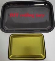 가장 저렴한 !!! DIY 롤링 트레이 금속 롤링 담배 쟁반 빈 독특한 담배 연기 액세서리 블랙 컬러 빠른 배송 수있는 사용자 정의