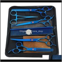 440C 7 Inch Hairdressers Barber Shop Supplies Titanium Professional Hairdressing Scissors For Cutting Hair Sk6Ah Eafw9