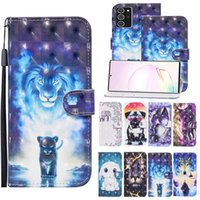 Flip Leather Case For Oppo A52 A72 A92 A5 A9 2020 Fundas Wallet Card Holder Stand Book Cover 3D Dog Butterfly Painted Coque