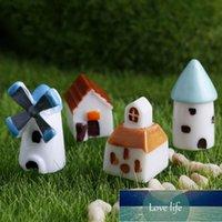 Carino 4pcs Casa Fata Giardino Giardino Miniatura Mestiere Micro Cottage Castello Castello Cabina Chiesa Mulino a vento Capannone Casa Ornamenti Paesaggio Decorazione del paesaggio