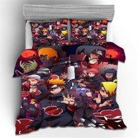 3D Naruto Impresión de dibujos animados Edredón de dibujos animados Juego de cama ANIME NIÑOS ADULTUROS CUBIERTA DE CUBIERTA DUVET SEIN QUEEN KING BED DOBLE CASA HASE HASSE DE LOTETE NARUTO REGALO