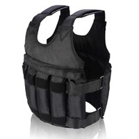 Accessories 50kg Loading Weighted Vest Adjustable Exercise Training Fitness Jacket Gym Workout Boxing Waistcoat