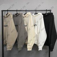 Verdadero Tamaño 2021 Hot Designer Mens Streetwear Streetwear de gran tamaño Sudaderas sueltas 3D Letra Imprimir Sudadera Camiseta de manga larga Sudadera con capucha