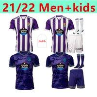 21 22 Real Valladolid Jersey Home Terceiro Fede S. R. Alcaraz Sergi Guardiola Óscar Plano Camisetas de Fútbol Homens + Kids Football Shirts