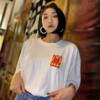 Travis Scott M T Shirt de manga corta Insegua de manga corta Marca salvaje Flojo Pareja Hombres y mujeres Camiseta de gran tamaño Moda de moda estilo Tops